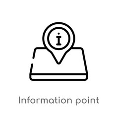 Outline information point icon isolated black vector