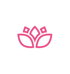 pink lotus icon design template isolated vector image
