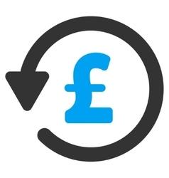 Pound Rebate Flat Icon Symbol vector