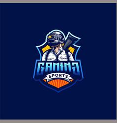 Pubg gaming logo design vector