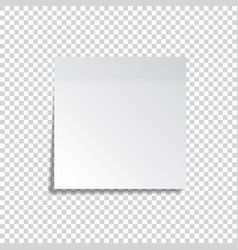 realistic sticky note white paper message on vector image