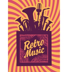 Retro music vector