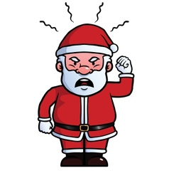 Santa Claus being angry vector image