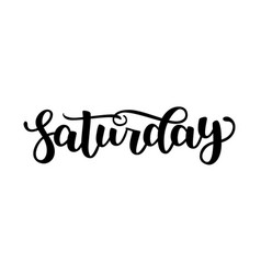 saturday handwriting font calligraphy vector image