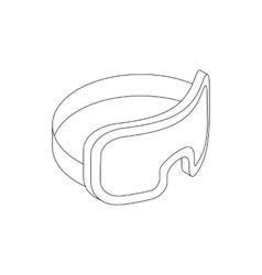 Scuba mask icon isometric 3d style vector