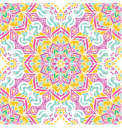 seamless pattern tile with mandalas vintage vector image