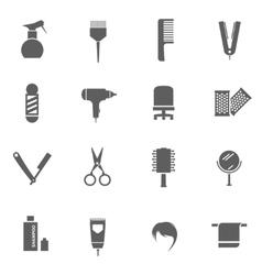 Set hairdresser icons vector