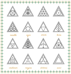 Set of geometric hipster shapes54sz vector image