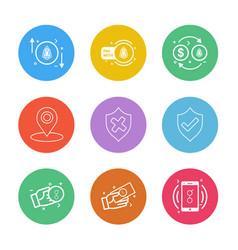 Sheild navigation golem mobile money coin vector