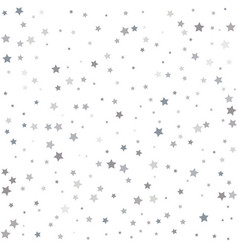 silver stars background sparkling christmas vector image