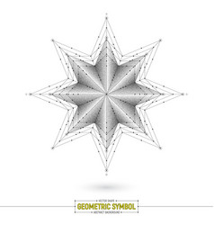 Star geometric symbol art vector