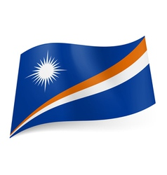 State flag of Marshall Islands vector