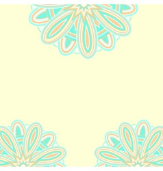 Summer ethnic card template vector