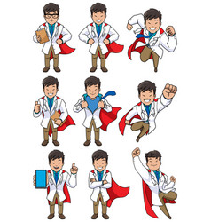 super doc asian vector image