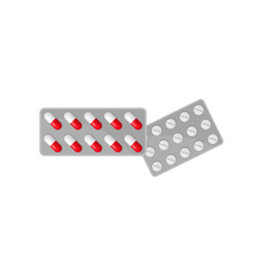 tablets in blister packs medicine pills vector image