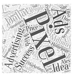 The Marketing Concept of Pixel Ads Word Cloud vector