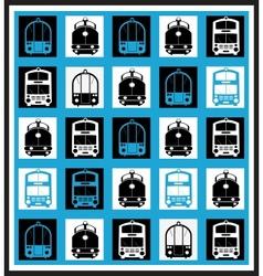 Transportation mosaics vector image vector image