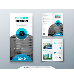 tri fold brochure design business template vector image