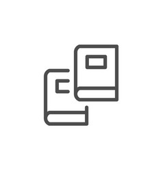two books line icon vector image