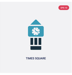 two color times square icon from tools and vector image