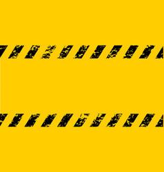 Warning frame grunge yellow black diagonal stripes vector