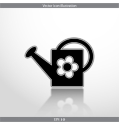 watering can web flat icon vector image