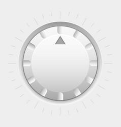 White round knob button volume selector vector