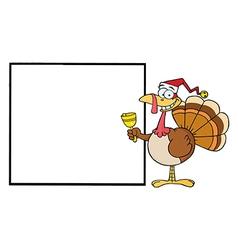 Christmas turkey cartoon vector image vector image