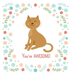 Cute little cat vector image vector image