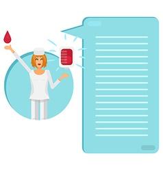 Nurse with Blood Bag vector image