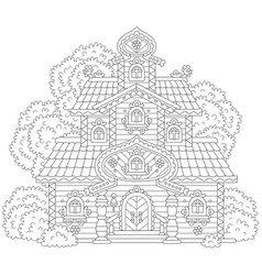 old ornate tower vector image