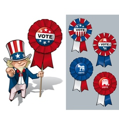 Uncle Sam I Want You to Vote vector image vector image