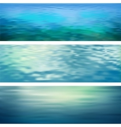 Abstract Water Banners vector image vector image