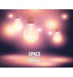 Christmas lights glowing yellow light bulb vector image