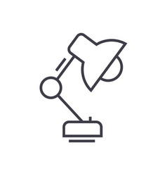 office desk lamp line icon sig vector image