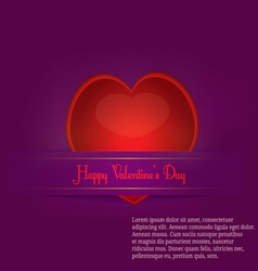paper cut valentine s day vector image vector image