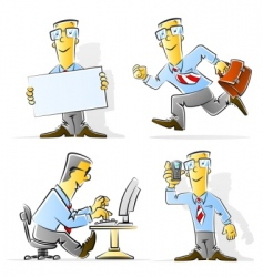 set of cartoon businessman vector image