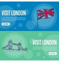 Visit London Touristic Web Banners vector image