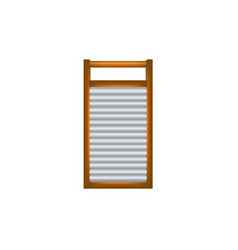 wooden washboard in brown and silver design vector image vector image