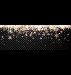 black shining banner with snowflakes vector image