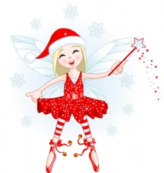 Christmas fairy vector image vector image