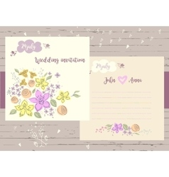 invitation card for record date wedding on vector image