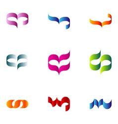 logo design elements set 65 vector image vector image