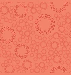 seamless terrcota flower mandala for print on vector image vector image