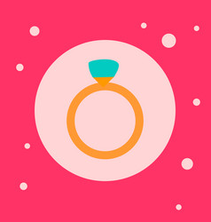 wedding ring icon on pink background vector image