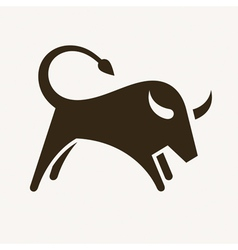 Bull silhouette vector image vector image