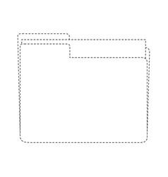 file folder symbol vector image vector image