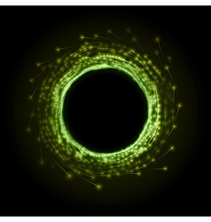 fireworks circle green vector image vector image