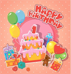 happy birthday 1year 380 vector image