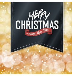 Merry Christmas lettering on Vintage black Label vector image vector image